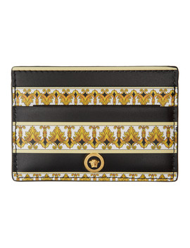 Black & Gold Barocco Card Holder by Versace