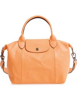 Le Pliage Cuir Leather Shoulder Bag by Longchamp