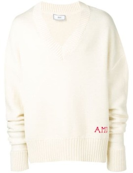 V Neck Oversize Sweater by Ami Paris