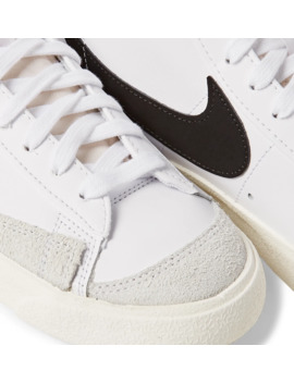 Blazer Mid '77 Suede Trimmed Leather Sneakers by Nike