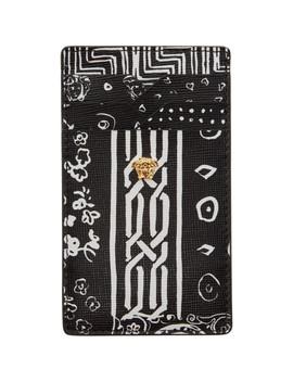 Black Bandana Card Holder by Versace