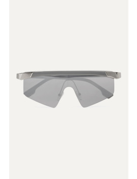 Engineer D Frame Silver Tone And Acetate Sunglasses by Le Specs
