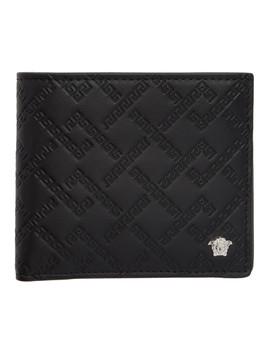 Black & Silver Greek Key Wallet by Versace