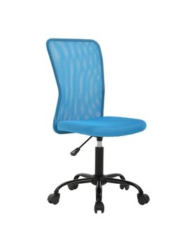 Mesh Office Chair With Ergonomic Lumbar Support Cheap Desk Chair Computer Adjustable Swivel Rolling Chair For Home&Office, Blue by Best Office
