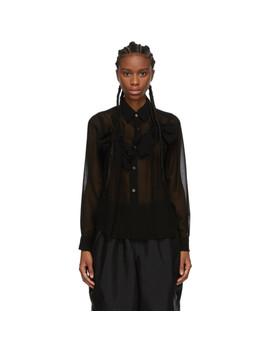 Black Georgette Bow Shirt by Comme Des GarÇons Comme Des GarÇons