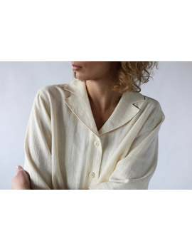 Linen Revere Collar Shirt / Offon Clothing by Etsy