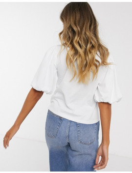Asos Design T Shirt With Puff Sleeve by Asos Design