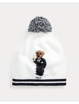 Tuxedo Bear Wool Blend Hat by Ralph Lauren
