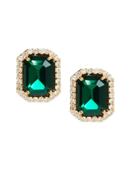 Emerald Square Stud Earrings by Banana Repbulic
