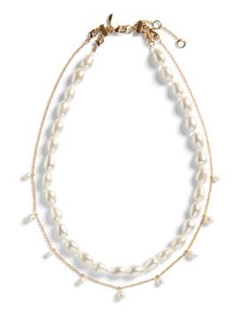 Layered Pearl Necklace by Banana Repbulic