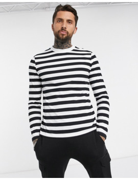 Asos Design Long Sleeve Striped T Shirt In Organic Cotton by Asos Design