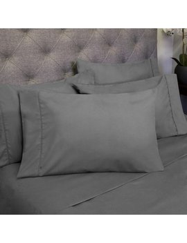 6 Piece Queen Size 1500 Thread Count Egyptian Quality Deep Pocket Bedroom Sheet Set, Gray by Sweet Home Collection