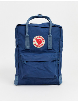 Fjallraven Kanken Backpack With Contrast Handles In Navy 16l by Fjallraven