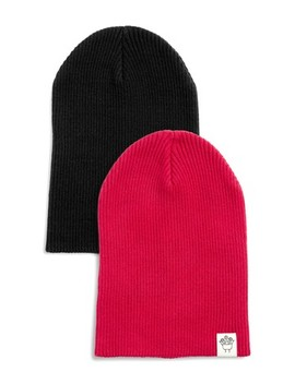 Red/Black 2 Pack Beanies (Younger) by Next
