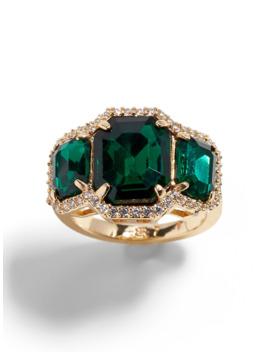 Emerald Cocktail Ring by Banana Repbulic