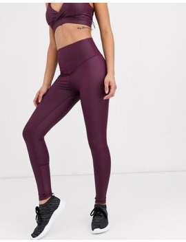 South Beach   Leggings Effet Mouillé   Bordeaux by South Beach