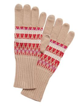 Fair Isle Knit Gloves by Banana Repbulic