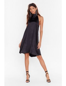 Robe Courte En Satin à Smocks Ton Attitude Me Smock by Nasty Gal