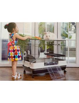"32"" Large Indoor 2 Floor Habitat Guinea Pig Hamsters Rat Mice Gerbils Ferret by Ebay Seller"