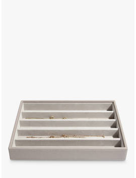 Stackers Classic 5 Section Jewellery Box, Taupe by Stackers
