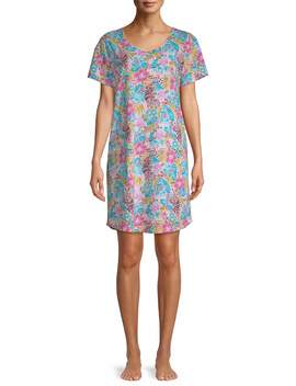 Secret Treasures Women's And Women's Plus St Sleepshirt Tropical by Secret Treasures