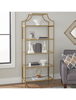 "Better Homes & Gardens 71"" Nola 5 Tier Etagere Bookcase, Gold Finish by Better Homes & Gardens"