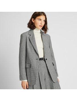 Giacca Blazer Lunga Tweed A Quadri Donna  (2) by Uniqlo