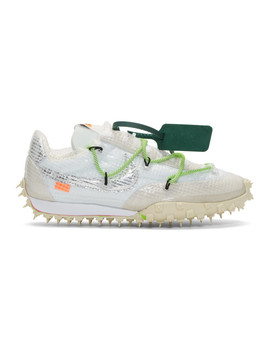 White Off White Edition Waffle Racer Sneakers by Nike