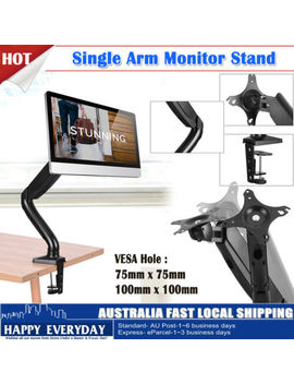 Single Arm Monitor Desk Mount Hd Led Lcd Stand Display Screen Tv Strut Vesa by Unbranded/Generic