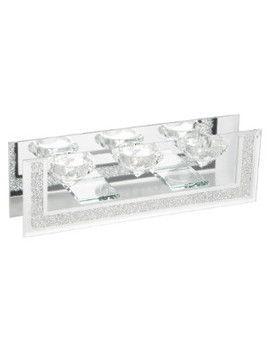 Crushed Crystal Triple Tealight Holder by The Range