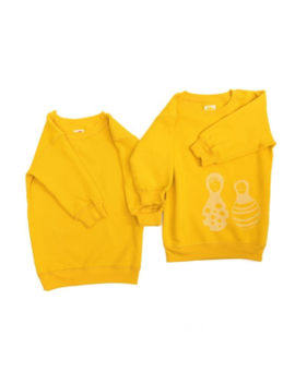 Baby Organic Cotton & Reversible Yellow Knitted Dress Baby Organic Cotton & Reversible Yellow Knitted Dress by Bonjour Maurice