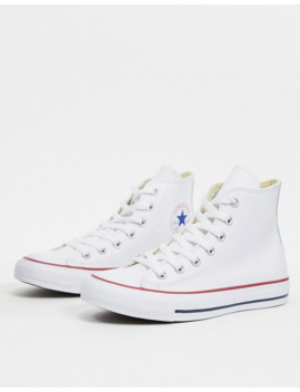 Converse Chuck Taylor All Star Hi White Leather Trainers by Converse