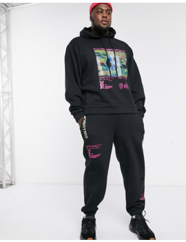 Collusion Plus Exclusive Printed Joggers by Collusion