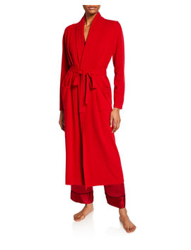 Cashmere Long Robe by Neiman Marcus Cashmere Collection