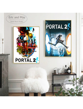 Portal 2 Game Style Modern Decorative Wall Pictures For Living Room Canvas Painting Art No Frame Posters And Prints Home Decor by Ali Express.Com