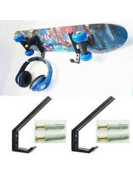2 × Multi Function<Wbr>/Skateboard / Headset / Plastic Wall Mount Rack Storage Holder by Unbranded