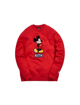 Kith X Disney 90s Clasic Mickey Crystal Hoodie Red by Stock X