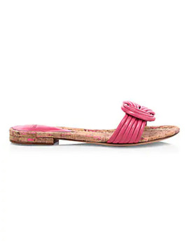 Sue Knot Leather Slides by Alexandre Birman