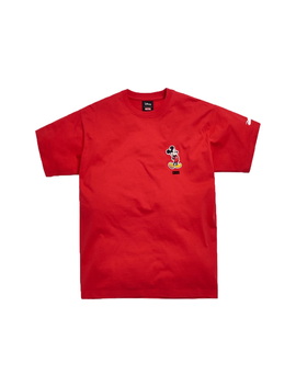 Kith X Disney 90s Classic Logo Mickey Tee Red by Stock X