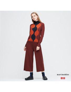 Women Marimekko Merino Blend Trousers by Uniqlo