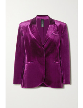 Stretch Velvet Blazer by Norma Kamali