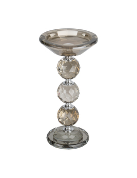 Chrome Pillar Candle Holder   Silver by The Range