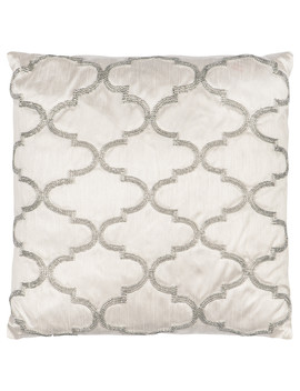 Quatrefoil Beaded Feather Filled Cushion by The Range