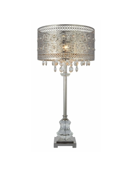 Florence Crystal Table Lamp   Silver by Jonas & James