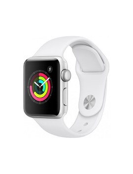 Apple Watch Series 3 38mm Silver Aluminium Case Gps With White Sport Band by Apple