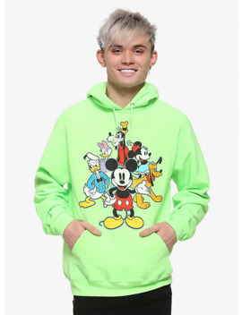 Disney Mickey Mouse Sensational Six Neon Hoodie by Hot Topic