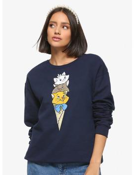 Disney Aristocats Ice Cream Kittens Girls Sweatshirt by Hot Topic