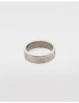 Logoring Aus Silber by Maison Margiela