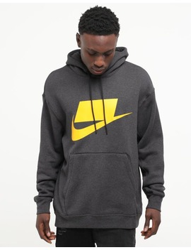 Nike Sports Wear Nsw Hoodie Black Heather/Silver by Nike