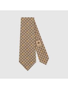 Cravatta In Seta Con Api E MotivoGg by Gucci